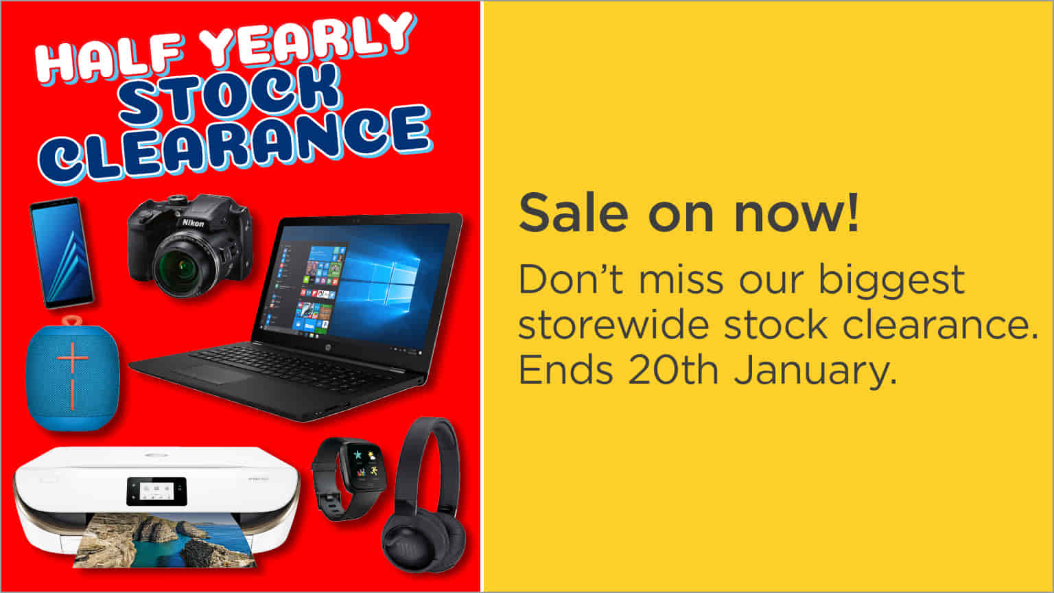 Half Yearly Clearance Computers